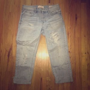 Light Denim Ripped Boyfriend Jeans